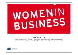 Women in Business, Interreg IVA ØKS.