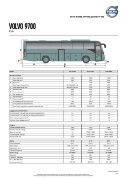 VolVO 9700 - Volvo Buses