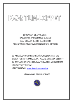 Kvantumloppet 11 april