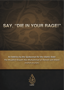 Adnani – Say, die in your rage