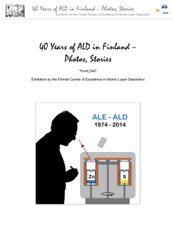 40 Years of ALD in Finland