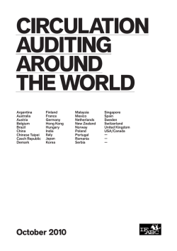 Circulation Auditing Around the World
