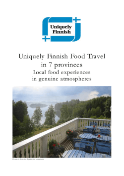 Uniquely Finnish Food Travel in 7 provinces