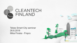 Tekes Smart City seminar 26.8.2018 Mika Finska