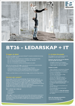BT26 - LEDARSKAP + IT - Business Wellness Family