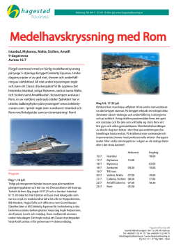 Infoblad - Hagestad Touring