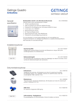 Getinge Quadro - Getinge Infection Control