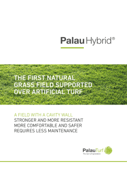 the first natural grass field supported over artificial