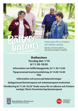 Program på Dalbacken