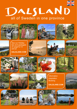Dalsland Magasin 2015 Our Dalsland 2015 prospect shows you the