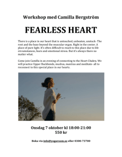 Workshop med Camilla Bergström FEARLESS HEART