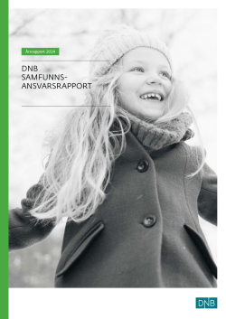 dnb samfunns- ansvarsrapport - United Nations Global Compact