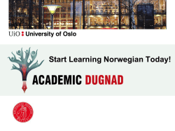 UiO Norwegian language courses