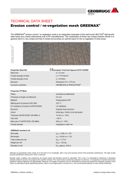 TECHNICAL DATA SHEET Erosion control / re