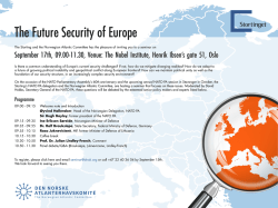 The Future Security of Europe - Den Norske Atlanterhavskomite