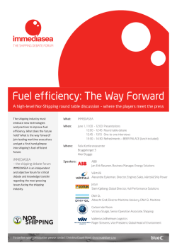 Fuel efficiency: The Way Forward