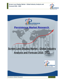 Screen Less Display Market - Global Industry Analysis and Forecast 2016 - 2022