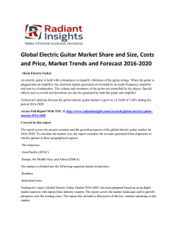 Global Electric Guitar Market Growth Report Up To 2020: Radiant Insights, Inc