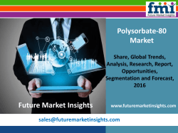 Polysorbate-80 Market Size, Analysis, and Forecast Report: 2016-2026