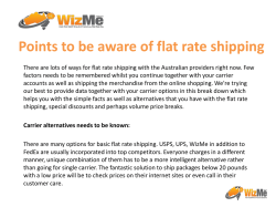 Points to be aware of flat rate shipping