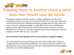 Shipping items to another country some hints that should save the hassle