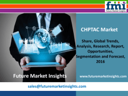 CHPTAC Market Dynamics, Forecast, Analysis and Supply Demand 2016-2026