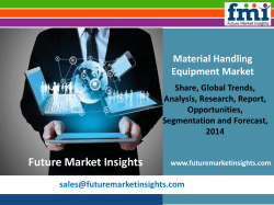 Material Handling Equipment Market Volume Forecast and Value Chain Analysis 2014 - 2020