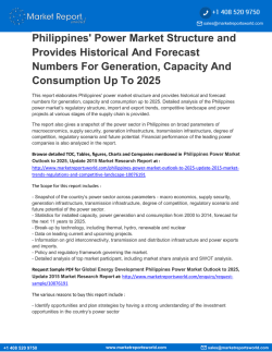 PHILIPPINES POWER MARKET OUTLOOK TO 2025, UPDATE 2015 - MARKET TRENDS, REGULATIONS, AND COMPETITIVE LANDSCAPE
