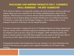 Packaging and shipping products for E- commerce small businesses - The Best guidebook