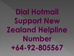 Hotmail Technical Support New Zealand Helpline Number +64-92-805567
