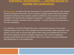 Purposeful Transparency — Another Reason To Partner With Warrantech