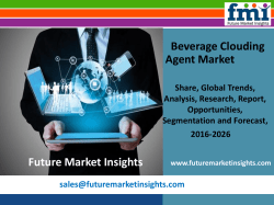 Beverage Clouding Agent Market size in terms of volume and value 2016-2026