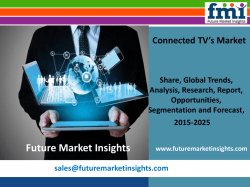 Connected TV's Market